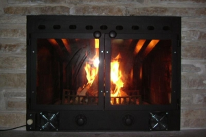 fire place glass