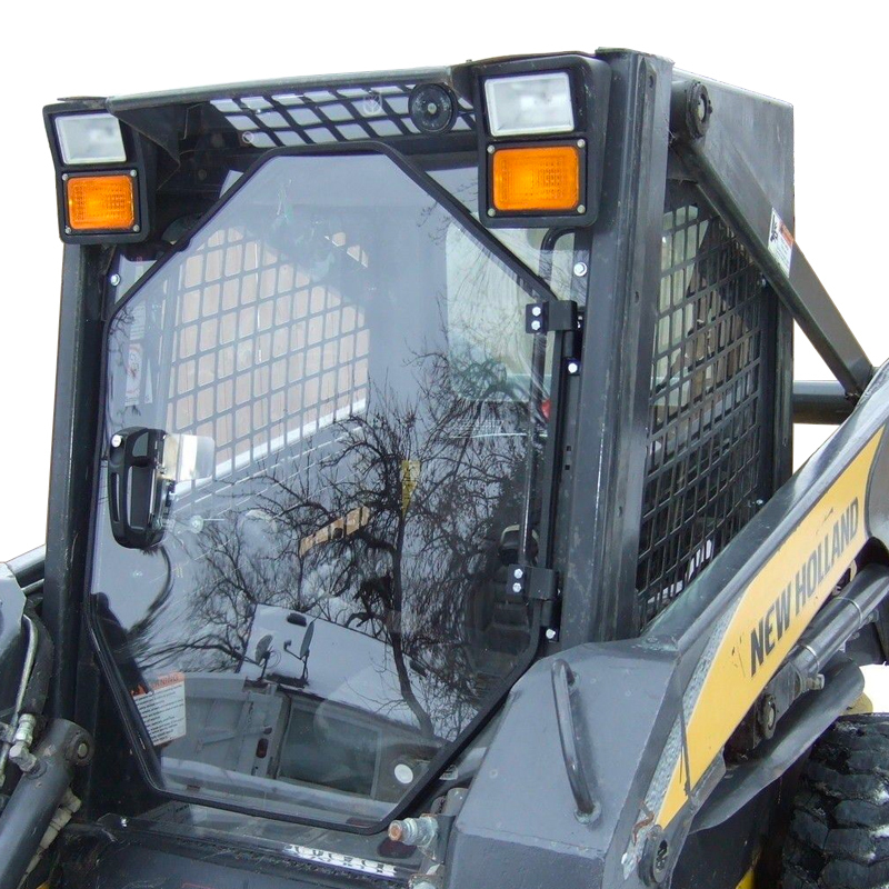 skid steer glass